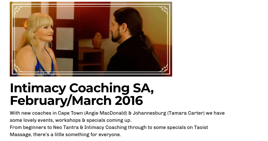 Intimacy Coaching South Africa